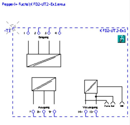 Pepperl+Fuchs Isolator Barrier Kfd2-Sr2-Ex2 with 2-Channel